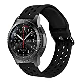 MroTech 22 mm Cinturino Compatibile per Samsung Gear S3 Frontier/Classic/Galaxy Watch 46mm/Huawei Watch 2 Classic/GT/GT Active Elegant/GT2 46 MM 22mm Silicone Band per Uomo Donna -Sport Ne