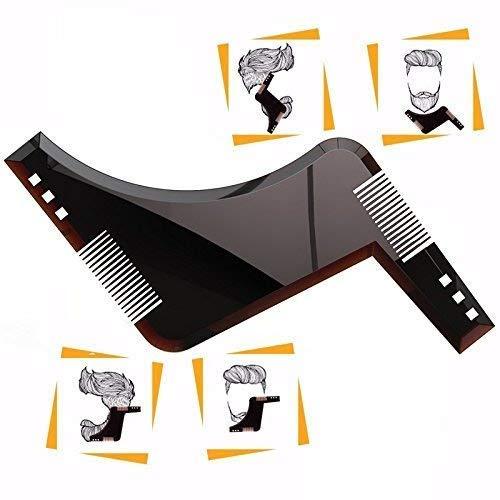 Pochoir Barbe Homme - léger et flexible - taille unique - coupe courbe, l'encolure & Barbe Bouc Outils de forme dans le style Barbe