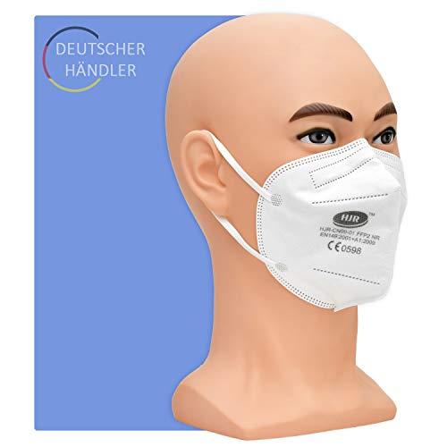 Partikelfiltermaske Typ FFP 2-20 Stück pro Packung - 5-lagige Atemschutzmaske gegen Staub und festen und flüssigen Aerosolen