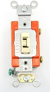 Leviton 20-Amp Toggle Switch 1221-2IL, Ivory