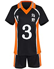Haikyuu Cosplay Kostuum Middelbare School Volleybal Team Uniform T Shirt en Shorts voor Karasuno Sportwear Jersey