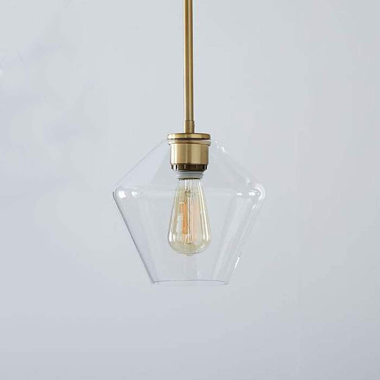 Rétro Plafonnier En Verre Vintage Industriel De Bell (Or),C