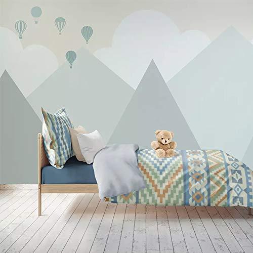 Fototapete Tapete Wanddeko Home Decor-Nordic Junge Schlafzimmer Tapete Kinderzimmer Tapete Mädchen Zimmer Cartoon Hintergrund Wanddekoration Benutzerdefinierte Mural Papier 400 Cm X 250 Cm (118,1 By 8