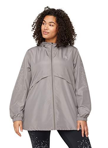 Zizzi Active by Große Größen Damen Jacke mit Reißverschluss und Kapuze Gr 42-56