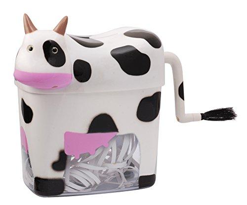 Small Cow Paper Shredder Manual Hand Crank Stright Cut