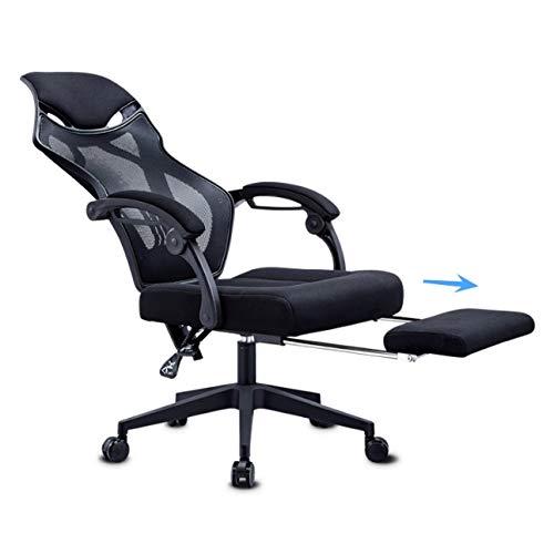 GFDFD Chaise de Bureau Ergonomique, Chaise de Bureau Moderne à Dossier Haut, Chaise d'ordinateur inclinable, Coussin de siège réglable, Dossier en Maille Respirante