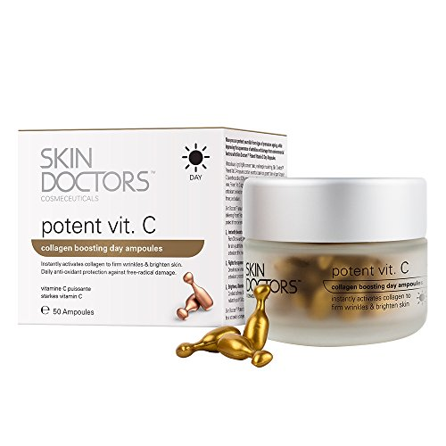 Skin Doctors Potent Vitamin C, Day serum, Anti-Wrinkle Cream, Ideal for Firming the skin, Collagen boosting, Fine Lines, Dark Spots - 50 Ampoules