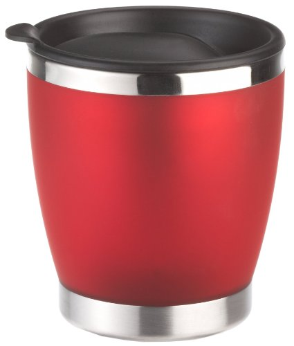 Emsa 504843 CITY CUP - Tasse isotherme- avec couvercle, 180 ml, rouge translucide