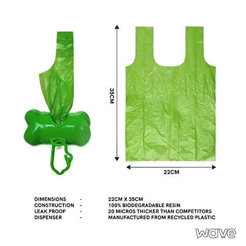 Bolsas de Caca biodegradables Wave con dispensador Gratis, 750 ...