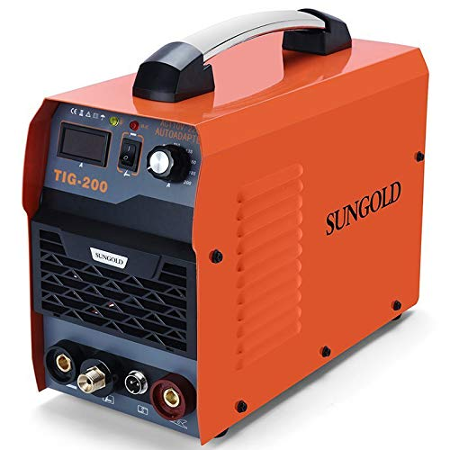SUNGOLDPOWER 200Amp TIG ARC MMA Stick IGBT DC Inverter Welder System Digital LED Display Welding Machine 110V and 220V With HF Start Complete Package