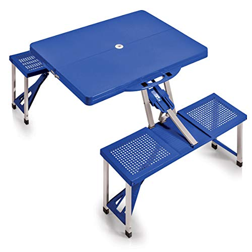 ONIVA - a Picnic Time Brand Portable Folding Picnic Table with Seating for 4, Blue, 36.2' x 18' x 5.5'