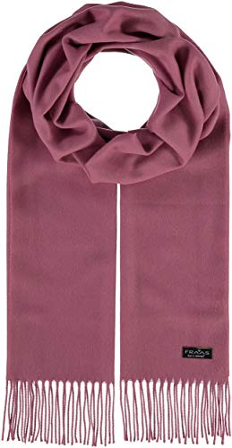 FRAAS Cashmink® Schal für Damen & Herren - Weicher als Kaschmir - 35 x 200 cm - Made in Germany - Perfekt für den Winter - Schal mit Fransen in Uni-Farben Rosa