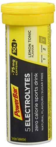 PowerBar Elektrolyte Tabletten 5 Electrolytes – Brausetabletten mit 5 Mineralstoffen  – Zitrone Tonic Boost (10Tabs)
