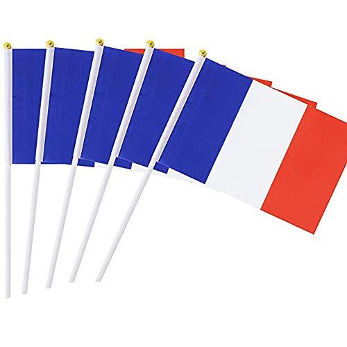 Dizie - Mini bandierine francesi, 14 x 21 cm, 20 pezzi