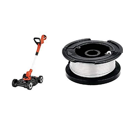 BLACK+DECKER MTE912 12-Inch Electric 3-in-1 Trimmer/Edger and Mower with Replacement Spool with 30 Feet