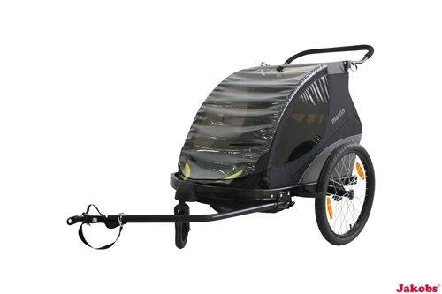 Marlin fietskar/modern, sportief + praktisch design voor 1-2 kinderen/aanhanger voor de fiets van Winther/binnenmaat: 580 mm