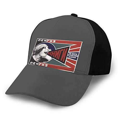Gorra de béisbol con diseño de propaganda soviética de la URSS, ajustable, color negro