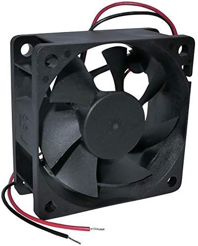 AERZETIX - Ventilador Axial de Refrigeración - para Caja de Ordenador PC - Vapo - Termoplástico - 24V DC - 60x60x25mm – 27.04m3/h - 3100rpm - 0.022A - 0.53W - 16.7dBA - C46985