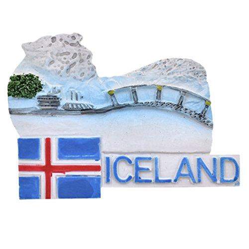 Hongma Magnete del Frigorifero Calamita da Frigo Magneti per Frigo Islanda Scenario Fridge Magnet Regalo