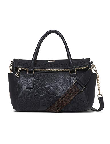 Desigual - Bag Dark Amber Loverty Women, Carteras de mano con asa...
