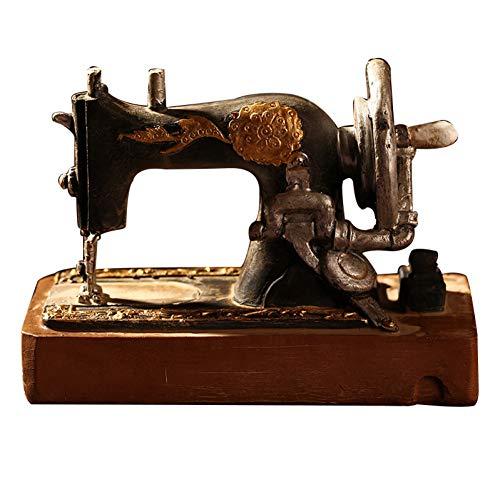 FAE&MGJ Escultura Clásico Retro Máquina de Coser Modelo Adornos Muebles de Resina Antigua máquina de Coser Miniatura Craft Bar Café Decoración del hogar Regalos