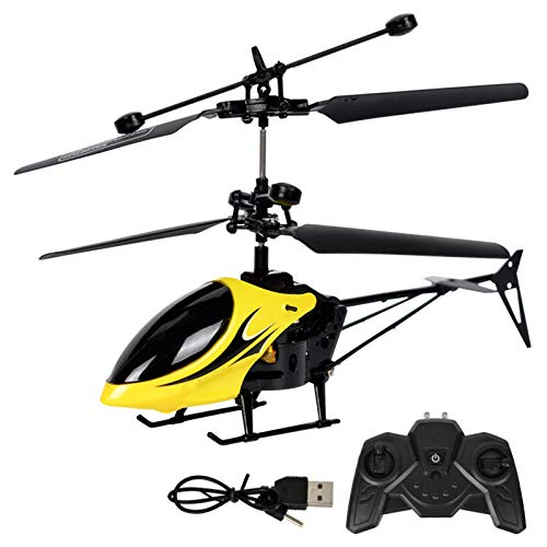 1pc Giallo Remote Elicottero Giocattolo Per Ragazzi E Ragazze Mini Volare Giocattoli Drone Con Telecomando Led Luci