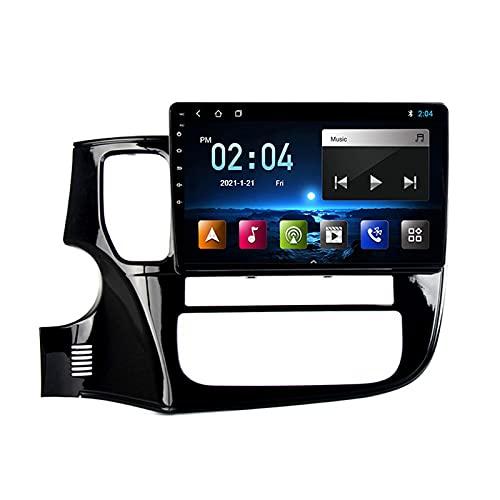 2 DIN Radio De Coche, Autoradio con Bluetooth Manos Libres 9' Pantalla Táctil/Mirroring De La Pantalla/FM Tuner Apoyo 1080P Video, para Mitsubishi Outlander 2012-2018,Quad Core,WiFi 1+32