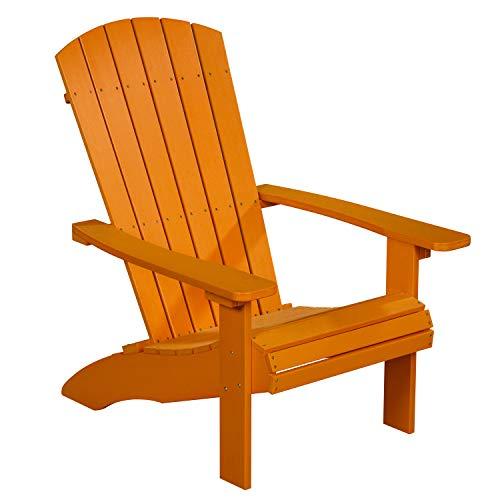 NEG Design Adirondack Stuhl Marcy (orange) Westport-Chair/Sessel aus Polywood-Kunststoff (Holzoptik, wetterfest, UV- und farbbeständig)