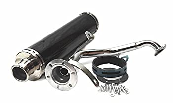 Performance Racing Exhaust Muffler Pipe For GY6 125cc 150cc Moped Scooter Black 03-111