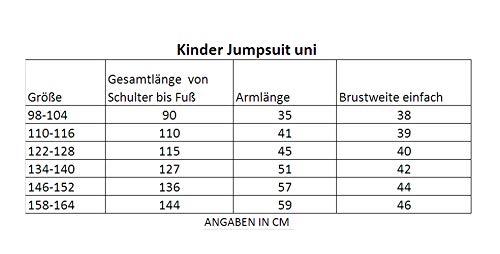 Gennadi Hoppe Kinder Jumpsuit - Jungen, Mädchen Onesie Jogger Einteiler Overall Jogging Anzug Trainingsanzug, schwarz,158-164 - 3