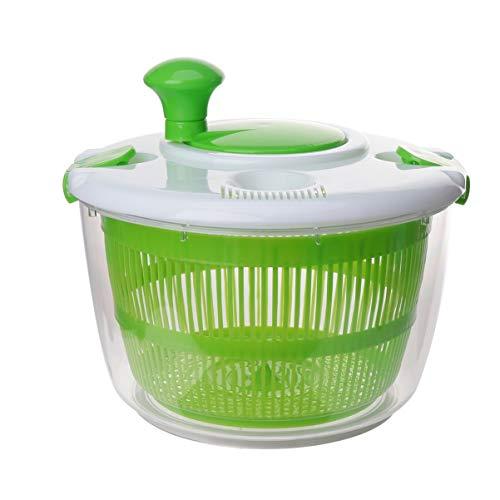 DOITOOL Küchensalat Spinner Salat Waschmaschine Trockner Abtropffläche Crisper Sieb Kompakte Lagerung zum Waschen Trocknen von Blattgemüse