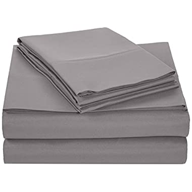 AmazonBasics Microfiber Sheet Set - King, Dark Grey