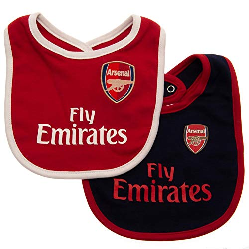 Arsenal FC - Authentic Cute Baby Bibs 2 Pack