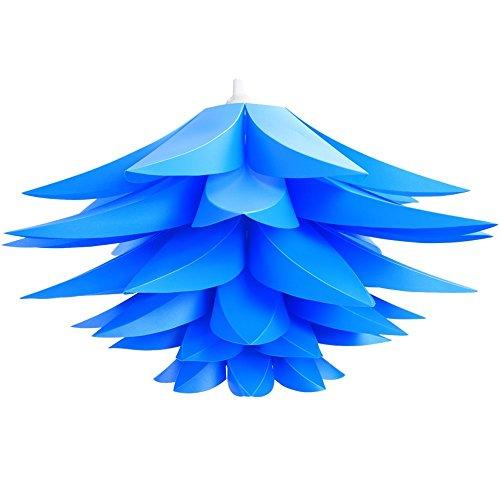 Sorive DIY Lotus Chandelier IQ PP Pendant Lampshade Ceiling Room Decoration(Blue) Massachusetts