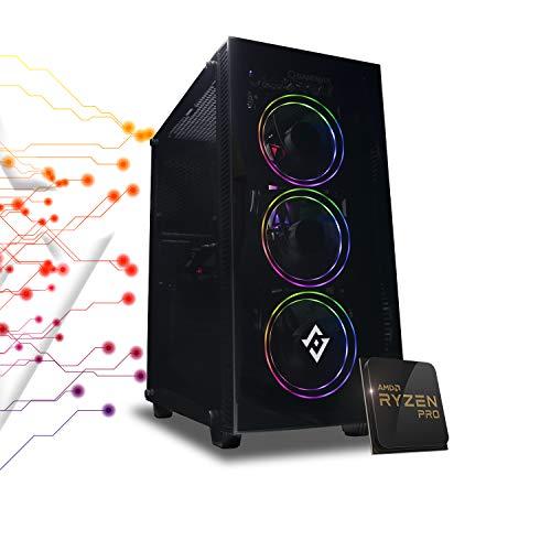 Pc gaming Ryzen 5 PRO 4650G 4.20 Ghz Turbo,SSD M.2 NVMe 500 GB,Ram 16Gb 3200Mhz ,600w 80 Plus ,Wi Fi 300Mbps , Computer da Gaming,Windows 10 Professional