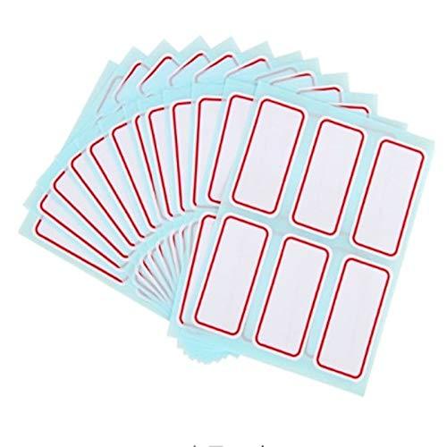 PMSMT 72 unids/Lote de Hojas de Pegatinas, Etiqueta autoadhesiva Blanca,Pegatina, Nombre, número, Nota en Blanco, usos múltiplespara Estudiantes y Tiendas