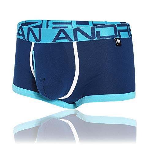 Andrew Christian Herren Boxershorts Fly Tagless Boxer Almost Naked 91091, Navy S