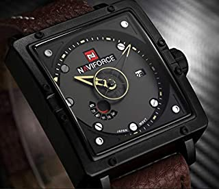 Naviforce Casual Watch For Men Analog Leather - NF9065M