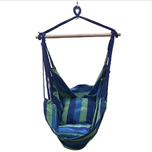 Ysswjzz Thuis wonen Premium Hangmat Swing Hangmat Chair - Veelzijdig - Hangt binnen of buiten Bouw, willekeurige kleur Delivery