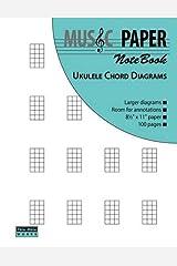 MUSIC PAPER NoteBook - Ukulele Chord Diagrams Paperback