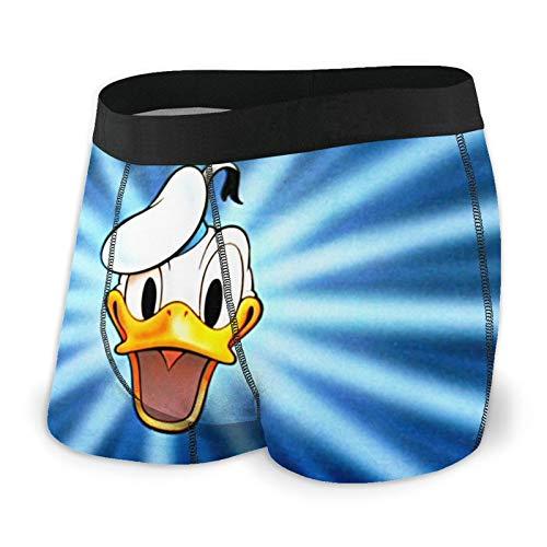 EWRVSXZ Donald Duck Herren Boxershorts Unterhosen Druckdesign mit weichem Stretchstoff und elastischem Gürtel Gr. XXL, Schwarz