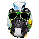 Women Men Hoodies 3D Print Unisex Casual Pullover Hood Brazil French Bulldog Pattern Autumn Outfit with Pocket for Vacation Street