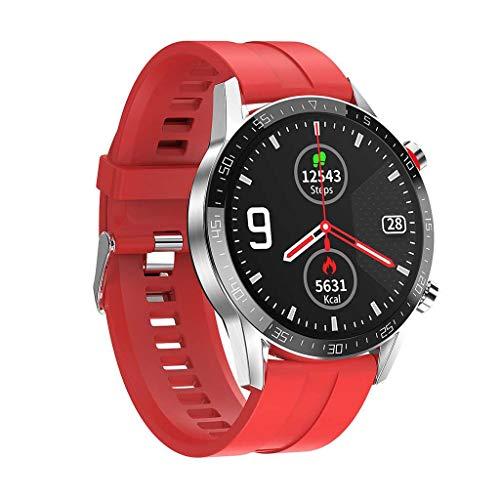 JHLD Reloj Inteligente, HD Pantalla Táctil Impermeable Deportiva Reloj con Podómetro Fitness Rastreador De Actividad para iOS Android-B1-1
