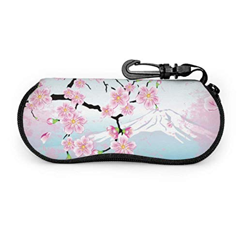 sherry-shop Estuche de gafas con mosquetón Sakura de cereza japonesa en montura...