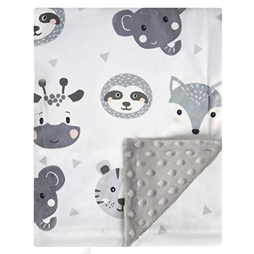 BORITAR Baby Blanket Super Soft Plush with Double Layer Dotted Backing Lovely Brown Animals Printed Unisex Design Received Blanket 30x40 Inch