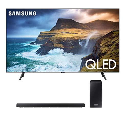 "Samsung QN65Q70RA 65"" Q70 QLED Smart 4K UHD TV (2019 Model) HWQ70R Soundbar w/Wireless Subwoofer"