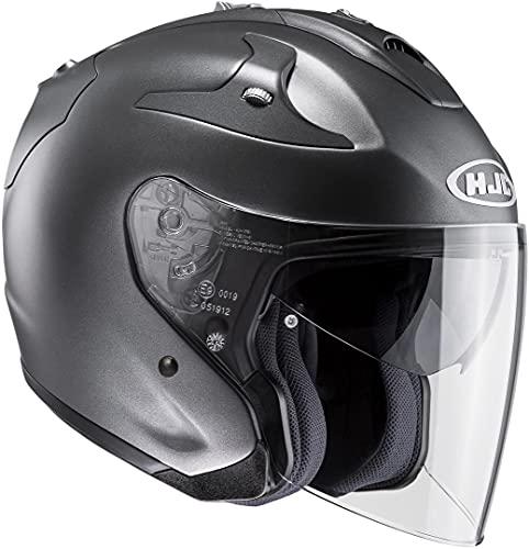 HJC Helmets HJC FG-JET - SEMI MATT/TITANIUM - Jethelm/Motorradhelm, GröàŸe:XXL 14119511, Titan Matt, XXL (63/64)