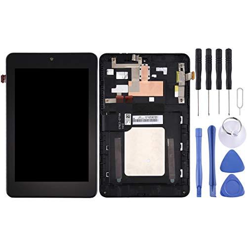 un known Reemplazo Compatible Pantalla LCD y Montaje Completo de digitalizador con Marco para ASUS Memo Pad HD7 / Me173x / Me173 K00B Accesorio (Color : Black)