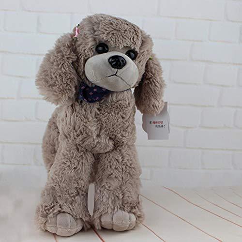 Metermall Home 30cm Verisimilitude Poedel Teddy Hond Pluche Zacht Knuffel Verjaardagscadeau Kaki 30 cm