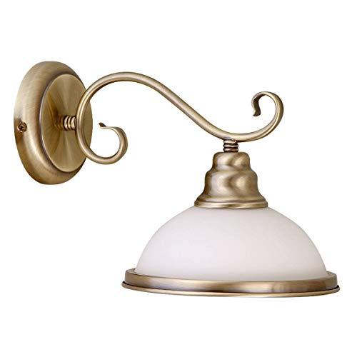 Stijlvolle wandlamp in messingoptiek jugendstil wandlamp E27 voor binnen